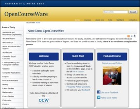 ND OCW Homepage