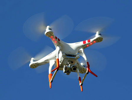Example: Image of micro drone hovering.